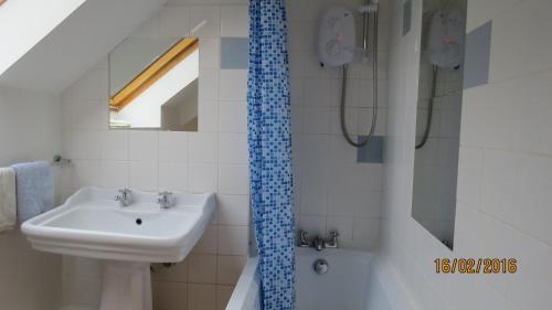 A bathroom at cwmddol fawr cottage