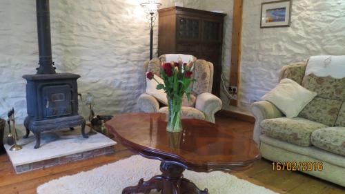 A seating area at cwmddol fawr cottage