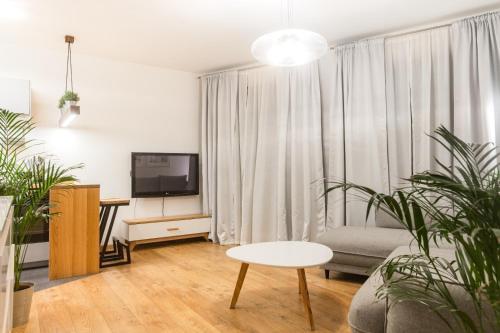Telewizja i/lub zestaw kina domowego w obiekcie Brzezicki Apartament Centrum