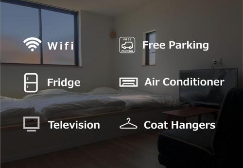 アパートメントのロゴまたは看板