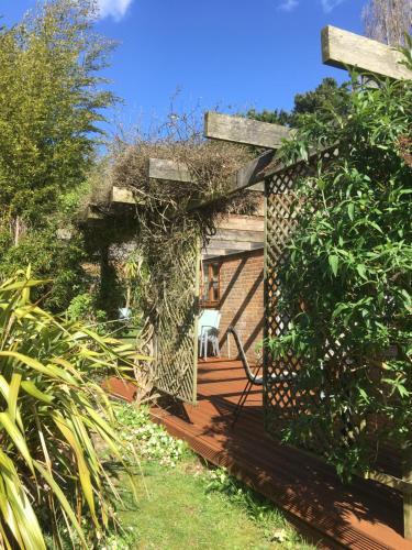 A garden outside Ralph's Spa Barn