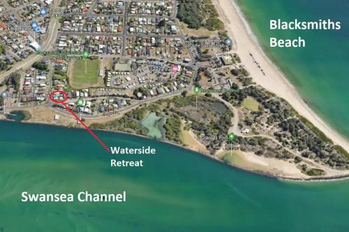 A bird's-eye view of Waterside Retreat