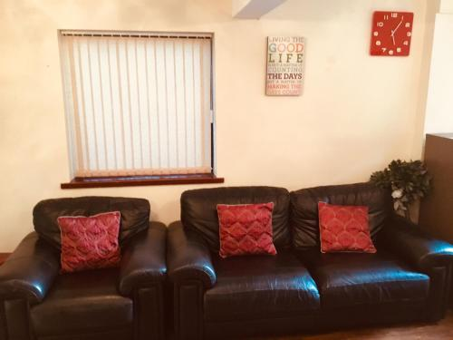 A seating area at Positive House