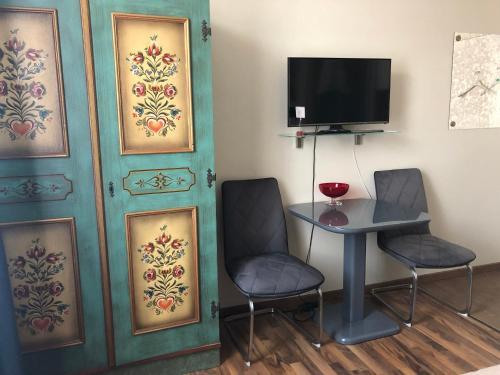 TV o dispositivi per l'intrattenimento presso Apartment Baden-Baden Altstadt Zentrum