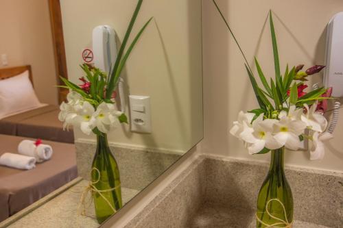 A bathroom at Villa das Palmeiras
