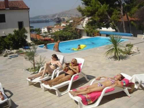 The swimming pool at or near Apartments Villa Goja