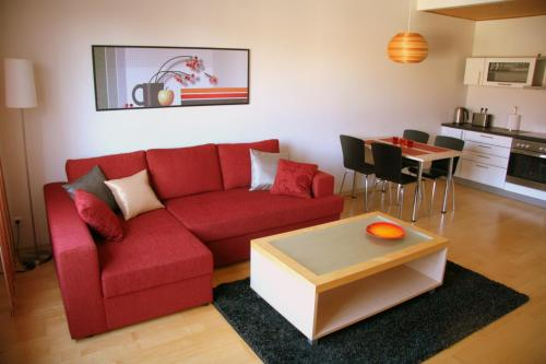 A seating area at Kuressaare Holiday Apartments