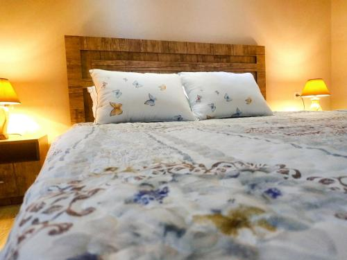 A bed or beds in a room at Apartment Vokzal