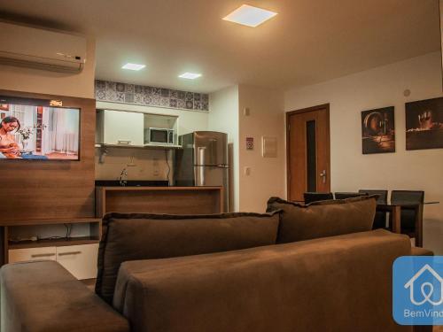 A seating area at Apartamento Luxuoso 2 - Mandarim Salvador Shopping