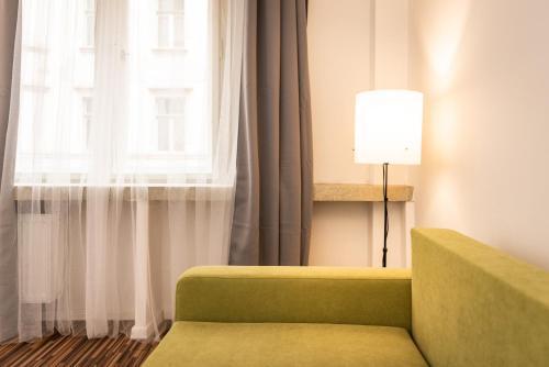 Et opholdsområde på Na Zborenci Design Apartments