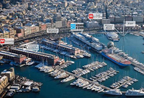 A bird's-eye view of l'Ancora luxury apartment