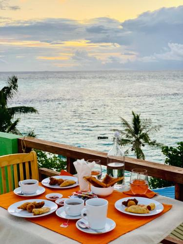 Breakfast options available to guests at ilaa Beach Maldives