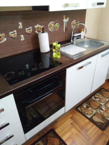 Kuchyň nebo kuchyňský kout v ubytování Rosso Frida