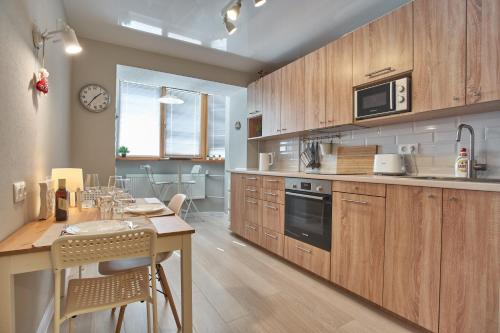 Кухня или мини-кухня в Tanka Double Room Apartments
