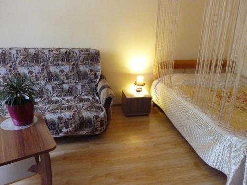Letto o letti in una camera di Apartment Brateevskaya 27