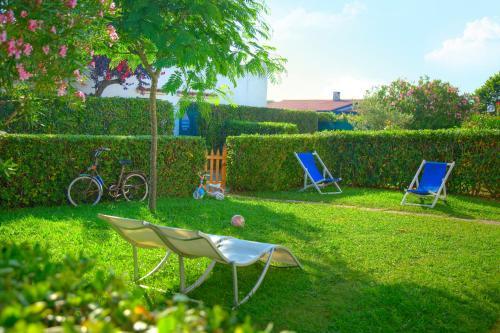 A garden outside Villaggio Riva Musone