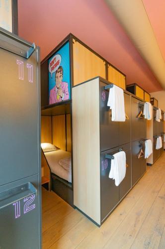 Μία ή περισσότερες κουκέτες σε δωμάτιο στο Sparks Hostel