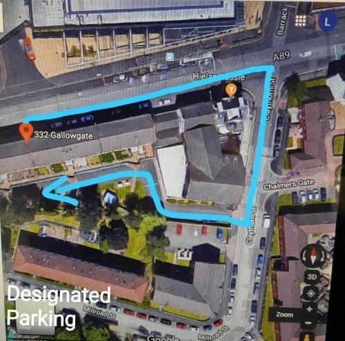 A bird's-eye view of My Glasgow House Barrowland With Free Parking