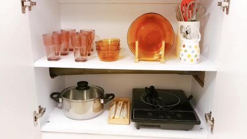 A kitchen or kitchenette at Sarangchae 7