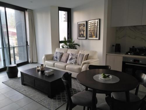A seating area at Northcliffe Residences