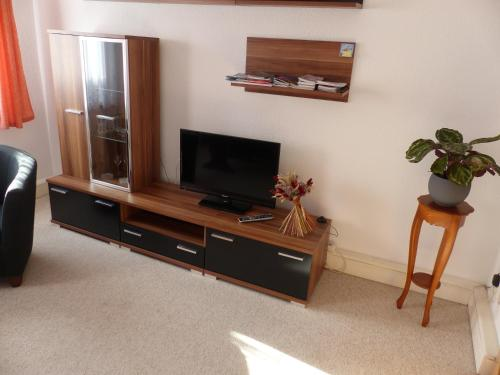 A television and/or entertainment center at Ferienwohnung Seidel