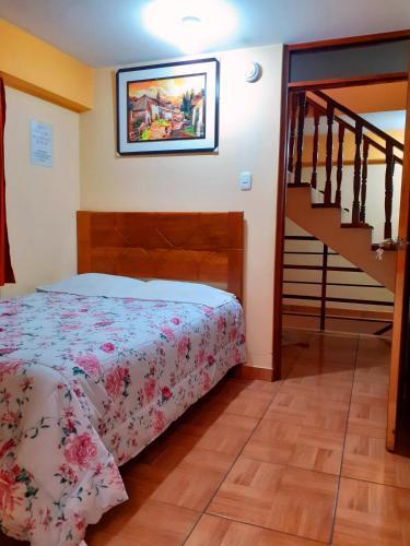 Cama o camas de una habitación en Kuntur Pacha