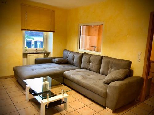A seating area at Apartment Rhona I Neunkirchen City