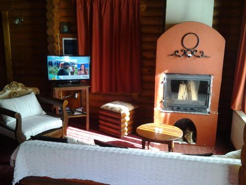 A seating area at Stivakti Chalet