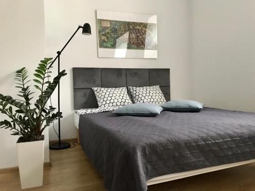 A bed or beds in a room at Poznan Rents - Apartamenty Mostowa Parking Free
