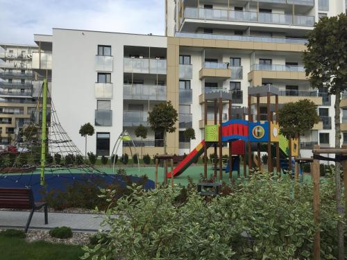 Children's play area at Marcelin Apartments Poznań