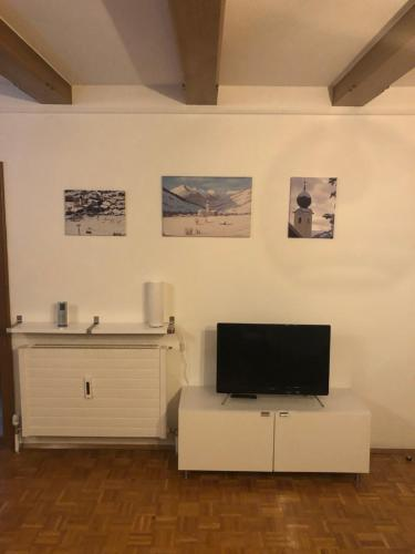 A television and/or entertainment centre at Alpenappartement Bartl