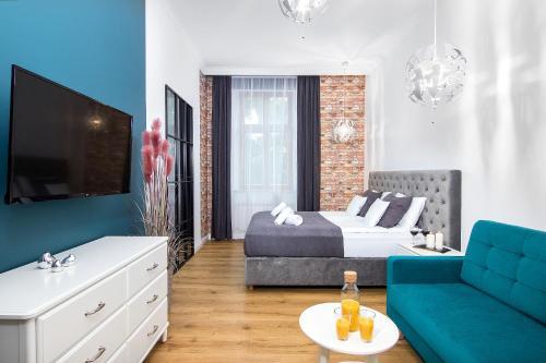 Posedenie v ubytovaní Beautiful Cracow Apartments