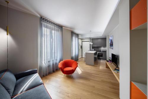 Area soggiorno di 30Cavour luxury suites