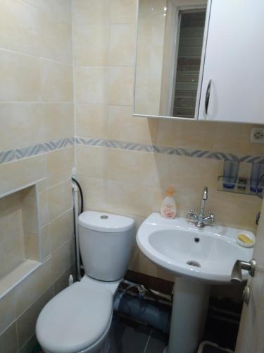 Ванная комната в Swiss Chalet in Kamchatka