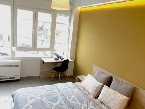 Ένα ή περισσότερα κρεβάτια σε δωμάτιο στο Souita in the centre