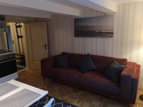 Ein Sitzbereich in der Unterkunft NiJole Apartment