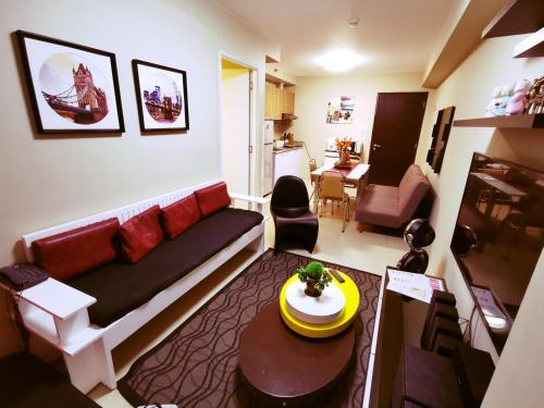 A seating area at Avida Tower's Condominium Near Naia Airport