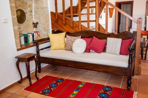 Χώρος καθιστικού στο Aγιόκλιμα Παραδοσιακός Κρητικός Ξενώνας