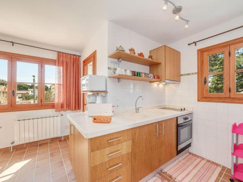 Küche/Küchenzeile in der Unterkunft Es Romaní Alto