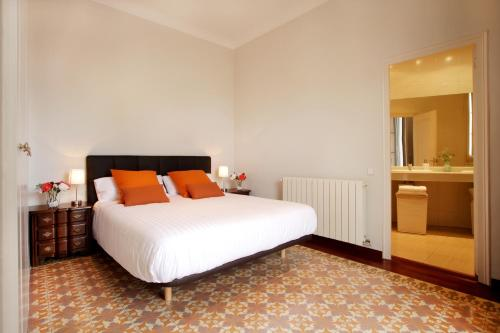 A bed or beds in a room at Casa Valeta