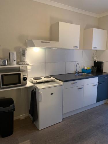 Cuisine ou kitchenette dans l'établissement Cenza Apartment
