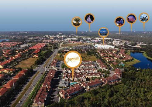 A bird's-eye view of Summerville Vacation Homes by Columbia Management