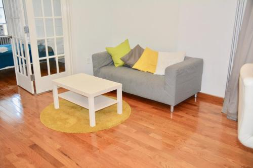 A seating area at The Topping Three-Bedroom Apartment