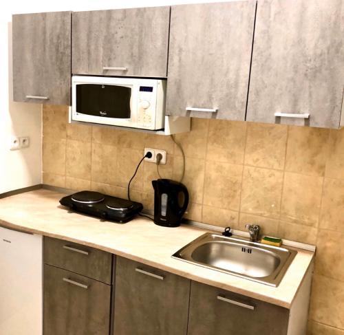 A kitchen or kitchenette at Bratislava Apartments 3