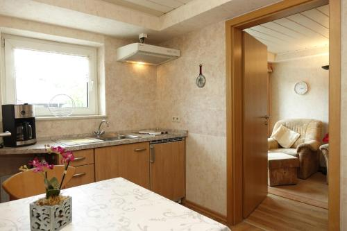 Küche/Küchenzeile in der Unterkunft Ferienwohnung Burg Katz