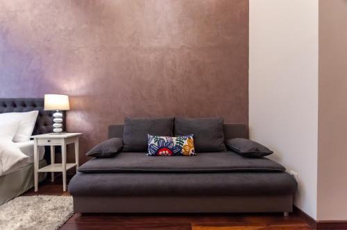 A seating area at Mala Sava Apartmani