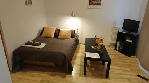 Posteľ alebo postele v izbe v ubytovaní WUTE23 Rakowicka