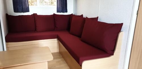 A seating area at Camping le Soustran