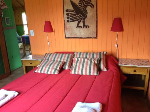 Una cama o camas en una habitación de Casa al Río