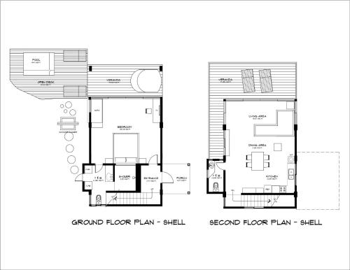 The floor plan of Diniview Villa Resort